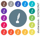 feather in ink bottle flat... | Shutterstock .eps vector #1242561967