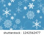 holiday greeting with snowflake ... | Shutterstock .eps vector #1242562477