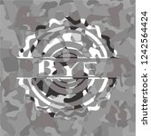 bye on grey camo texture | Shutterstock .eps vector #1242564424