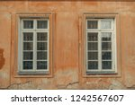 vintage windows on the faded... | Shutterstock . vector #1242567607