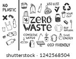 drawing zero waste and... | Shutterstock .eps vector #1242568504