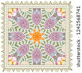 decorative colorful ornament on ... | Shutterstock .eps vector #1242568741