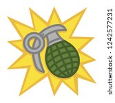hand grenade illustration | Shutterstock . vector #1242577231