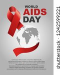vector of world aids day symbol....   Shutterstock .eps vector #1242599221