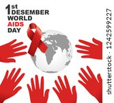 vector of world aids day symbol....   Shutterstock .eps vector #1242599227