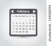 vector calendar template for... | Shutterstock .eps vector #124260541