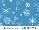 holiday greeting with snowflake ... | Shutterstock .eps vector #1242608764