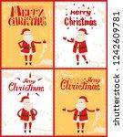 merry christmas posters set... | Shutterstock .eps vector #1242609781