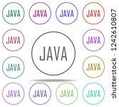 java icon. elements of online... | Shutterstock .eps vector #1242610807
