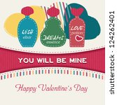 card of happy valentine's day | Shutterstock .eps vector #124262401