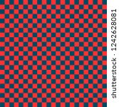 red and blue checkered... | Shutterstock .eps vector #1242628081