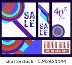 set sale poster with percent... | Shutterstock .eps vector #1242631144