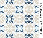 talavera pattern.  indian... | Shutterstock .eps vector #1242633724