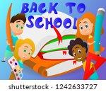 back to school. happy... | Shutterstock .eps vector #1242633727