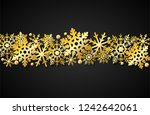 merry christmas   winter ... | Shutterstock .eps vector #1242642061
