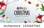 vector merry christmas... | Shutterstock .eps vector #1242647461