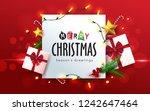 vector merry christmas... | Shutterstock .eps vector #1242647464