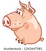 vector illustration of a cute... | Shutterstock .eps vector #1242647581