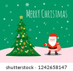 merry christmas and happy new... | Shutterstock .eps vector #1242658147