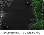 christmas tree background. xmas ... | Shutterstock .eps vector #1242659797