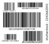 barcode set vector. universal... | Shutterstock .eps vector #1242662041