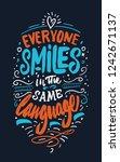 hand drawn lettering. modern...   Shutterstock .eps vector #1242671137