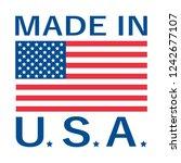 made in usa logo | Shutterstock .eps vector #1242677107