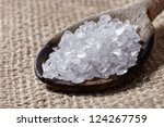 Salt Spoon - stock photo