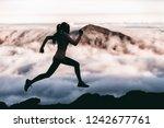 trail runner athlete silhouette ... | Shutterstock . vector #1242677761