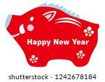 japanese boar traditional... | Shutterstock .eps vector #1242678184