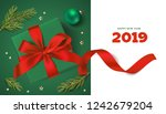 winter holiday design template. ... | Shutterstock .eps vector #1242679204