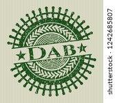 green dab rubber grunge stamp | Shutterstock .eps vector #1242685807