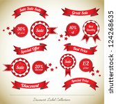 discount label collection | Shutterstock .eps vector #124268635