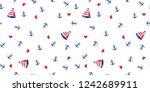 seamless pattern with anchors... | Shutterstock .eps vector #1242689911