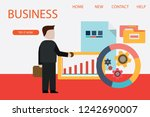 set of 3d infographic business... | Shutterstock .eps vector #1242690007