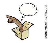 cartoon pointing hand | Shutterstock .eps vector #124269211