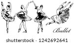 ballerina. ballet dancer sketch ...   Shutterstock .eps vector #1242692641