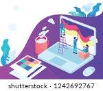 people in team designer paint... | Shutterstock .eps vector #1242692767