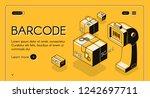 barcode scanning web banner or...   Shutterstock .eps vector #1242697711