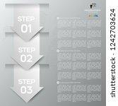white arrow infographic concept.... | Shutterstock .eps vector #1242703624