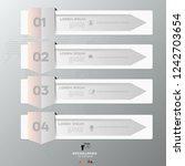 white arrow infographic concept.... | Shutterstock .eps vector #1242703654