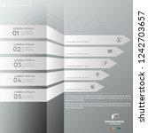 white modern infographic arrows.... | Shutterstock .eps vector #1242703657