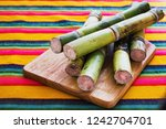 sugar cane from mexico  mexican ... | Shutterstock . vector #1242704701