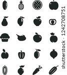 solid black vector icon set  ...   Shutterstock .eps vector #1242708751