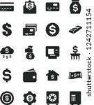 solid black vector icon set  ... | Shutterstock .eps vector #1242711154