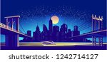 vector horizontal illustration... | Shutterstock .eps vector #1242714127