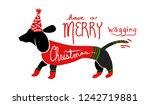 Cute Fun Merry Christmas Dog...
