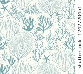 seamless hand drawn pattern... | Shutterstock .eps vector #1242720451
