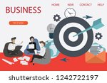 set of 3d infographic business... | Shutterstock .eps vector #1242722197
