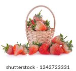 strawberry isolated on white... | Shutterstock . vector #1242723331